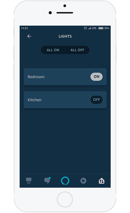 3. On this Page you can control all of the device at once, or Turn On and Off single device via button on the corresponding device.